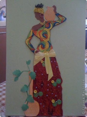 """Дорогие мастерицы! вот африканку я """"натворила"""" на этот раз. Мне она очень нравится! а вам? фото 1"""