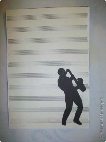 Открытка для саксофониста. фото 2
