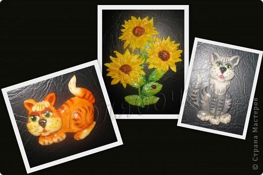 Подсолнухи опять такие же,как в прошлый раз,но третий цветок открытый,за МК спасибо М.Архиповой.Котиков сповторюшничала у Ларисы Ивановой,спасибо Лариса за таких лапулечек. фото 1