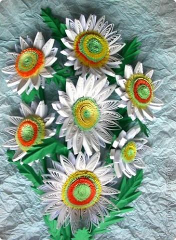 Наверно это декоративные подсолнухи. Хотела я сделать ромашки, но получились подсолнухи альбиносы фото 2