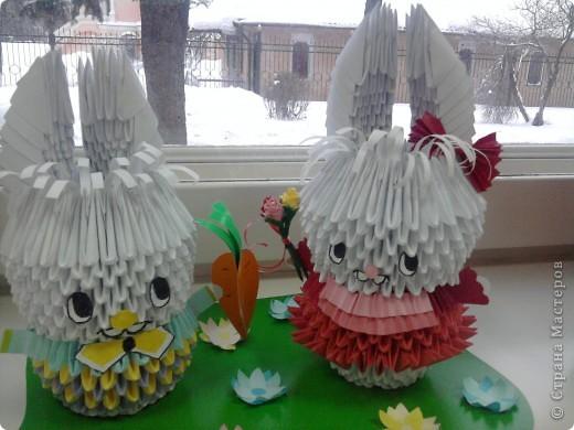 первая  работа из модулей для гентерного воспитания в детском саду, связанный, конечно, с годом кролика
