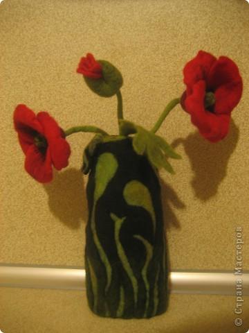 Маки в вазе фото 1