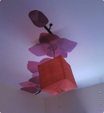 """Роспись стен """"Зимняя вишня"""". (в гостиной ) фото 3"""