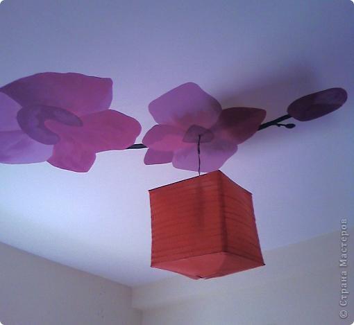 """Роспись стен """"Зимняя вишня"""". (в гостиной ) фото 2"""
