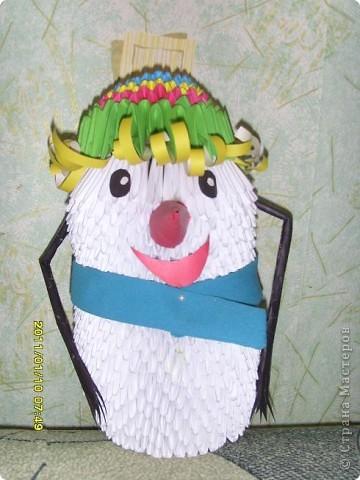 Снеговик из модулей