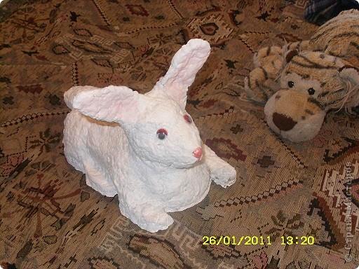 Кролик для сада,папье-маше фото 1