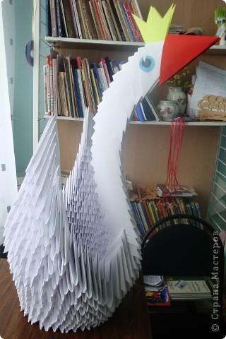 Этого лебедя мы делали на уроках художественного труда в 3 классе. фото 3