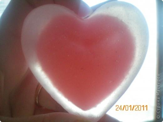 объемное сердечко в большом объемном сердце с глиттером фото 1