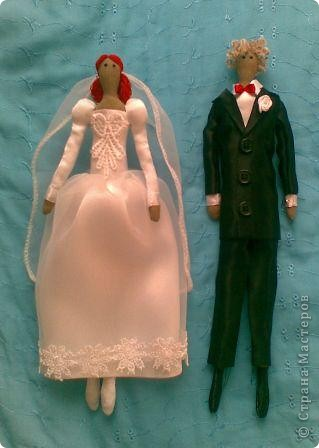 У нас с мужем годовщина нашего бракосочетания, и в честь этого я сшила вот такую парочку.  фото 6
