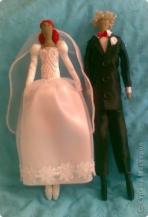 У нас с мужем годовщина нашего бракосочетания, и в честь этого я сшила вот такую парочку.  фото 1