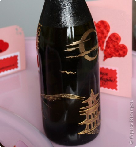 На создание данной бутылочки вдохновили  работы Олеси Ф.  фото 2