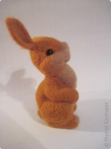 Ну вот готов и мой зайка по МК Елены Смирновой  http://utichka.livejournal.com/116035.html!!! Лена, большое спасибо за прекрасный мастер-класс!!!   Сестра сказала, что рыжих зайцев не бывает, значит это - кролик Рыжик))) фото 3
