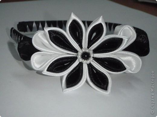 черно-белый ободок фото 1
