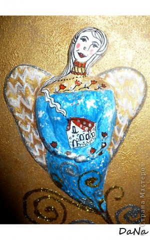Соленое тесто;краски акриловые;Блестки.Рамочку тоже сама оформила.))) фото 2