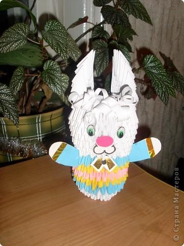 Вот мой зайчик-символ года. Как без него. Работа на заказ для детского сада.
