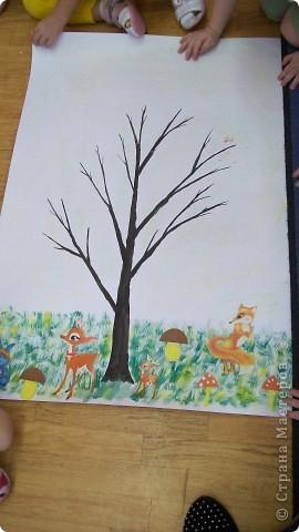 осеннее дерево, заготовка фото 1