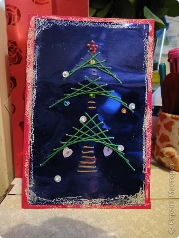 Наша открыточка для крестной к Рождеству.