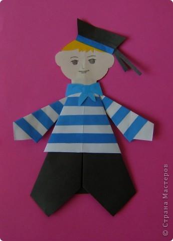 Оригами Морячок Бумага