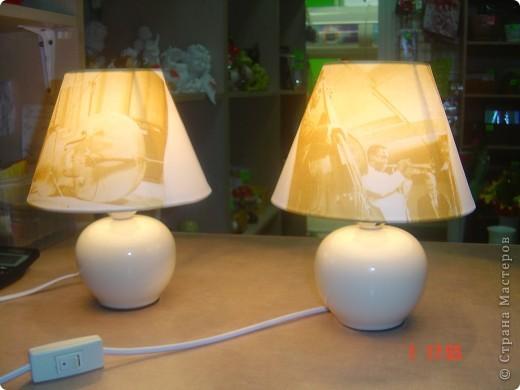 Эти светильники я декорировала в подарок брату - любителю джаза. фото 1