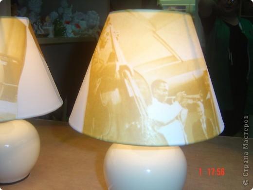 Эти светильники я декорировала в подарок брату - любителю джаза. фото 2
