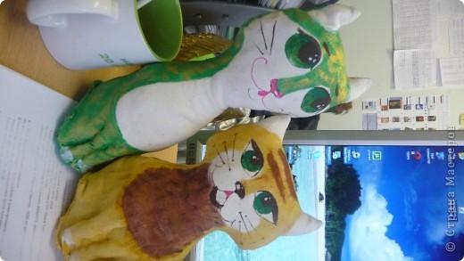 Вот такая замечательная кошачья компания родилась под новый год у моей коллеги Девятковой Ирины Алексеевны и ее кружковцев в подарок детям-сиротам и детя, с ограниченными возможностями здоровья. фото 4