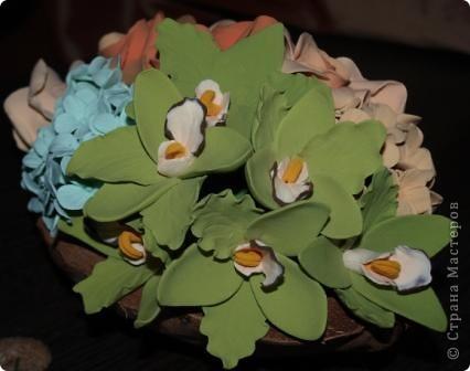 Орхидеи в кокосовой вазочке фото 5