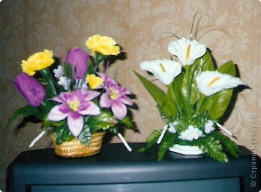 Композиции из кал, васильков, гербер, маков, роз..... фото 7