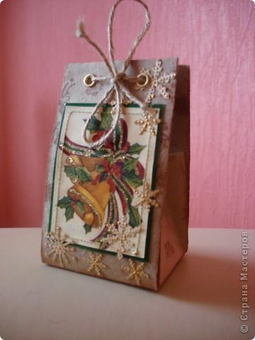 Сумочка-открытка Новогодняя