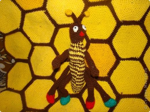 """Пчёлка и плед """"Соты"""" фото 2"""