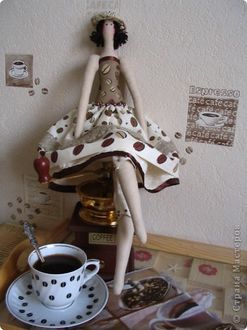 Кофейная девочка для моей кофеманской кухни. фото 1