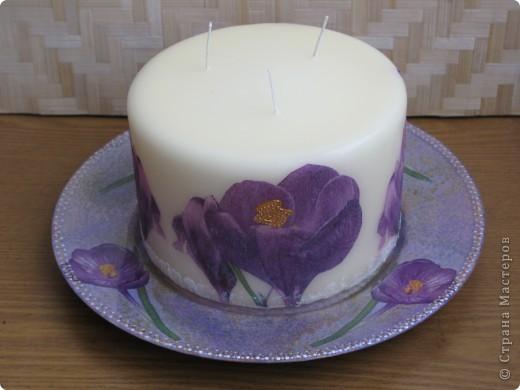декупаж на свечах: салфетки, контур фото 1