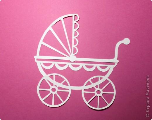 """Здравствуй, Малышка! Эта открытка выполнена в нескольких техниках: вырезание, объёмная аппликация.  Использовано: картон цветной двусторонний (""""Для детского творчества""""), картон с рисунком, бумага для графических работ, двусторонний толстый скотч. фото 3"""