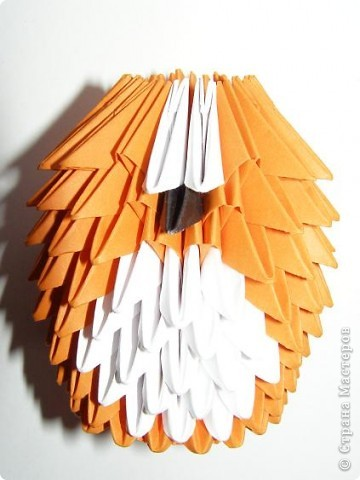 Мастер-класс Поделка изделие Оригами китайское модульное Лисичка-сестричка МК Бумага фото 8