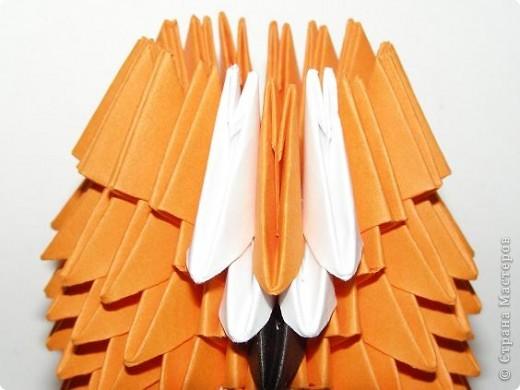 Мастер-класс Поделка изделие Оригами китайское модульное Лисичка-сестричка МК Бумага фото 9