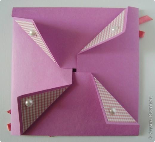 Первая открытка - раскладушка. Люблю открытки необычных форм :). Форма универсальная можно использовать для разных поводов и положить внутрь маленький подарочек.  фото 1
