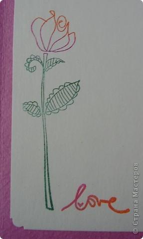Первая открытка - раскладушка. Люблю открытки необычных форм :). Форма универсальная можно использовать для разных поводов и положить внутрь маленький подарочек.  фото 4