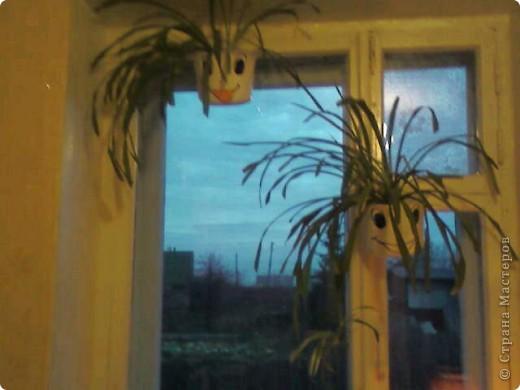 Домовята (цветочные горшки, витражная краска) фото 2