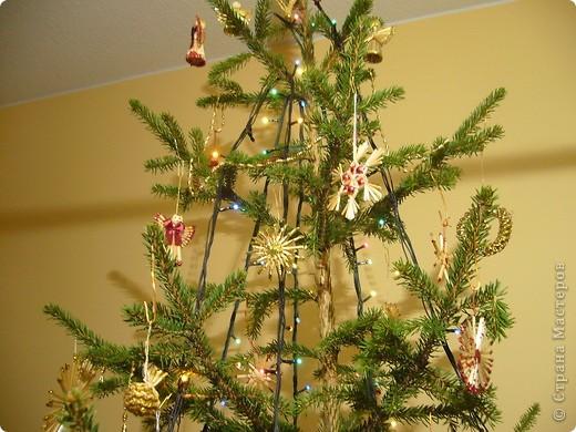 В этом году свою лесную красавицу нарядила исключительно новогодними игрушками из соломки. фото 4