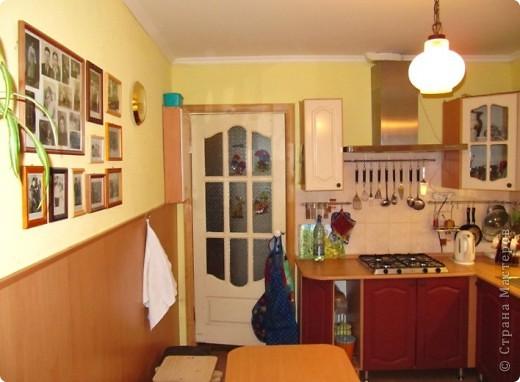 Вот решила показать антикризисный способ обновить кухонный интерьер.  Все началась с того, что мы несколько лет назад переехали в новую квартиру. Своей мебели не было совсем. А замечательные бывшие хозяева оставили нам в наследство старый кухонный гарнитур.  фото 7