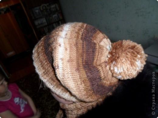 Шапочка и шарфик спицами фото 2