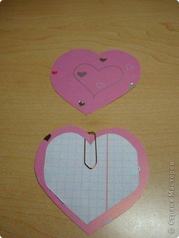 Еще одна Валентинка,которая превращается в гирлянду из сердечек. фото 6