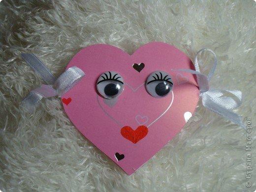 Еще одна Валентинка,которая превращается в гирлянду из сердечек. фото 1