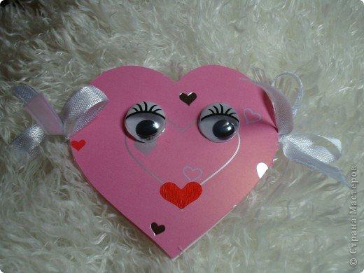Еще одна Валентинка,которая превращается в гирлянду из сердечек. фото 10