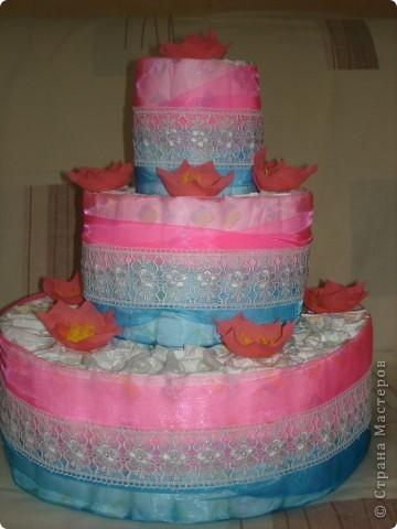 Ещё один памперсный торт фото 1