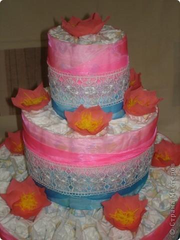 Ещё один памперсный торт фото 2
