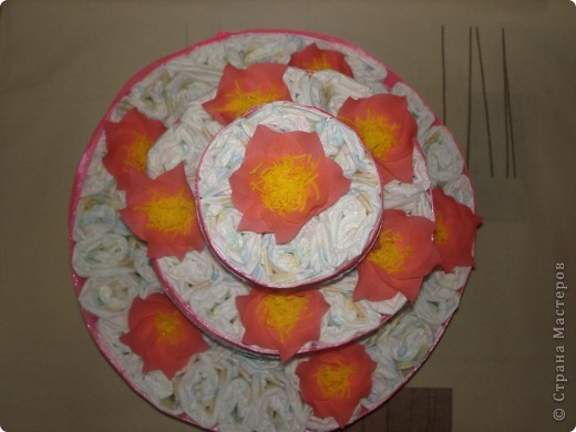 Ещё один памперсный торт фото 3