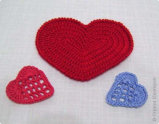 Приближается праздник всех влюбленных - День Святого Валентина. Предлагаю связать сердечки -подставки под горячую кружку  фото 2