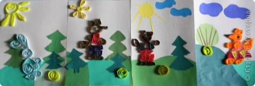 Работы детей 6-7 лет. Техника «Квиллинг»  открывает детям путь к творчеству, развивает их фантазию и художественные возможности, формирует такие качества как усидчивость, терпение, внимание. Развивает мелкую моторку, формирует пространственную ориентировку. фото 1