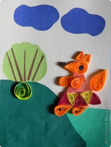 Работы детей 6-7 лет. Техника «Квиллинг»  открывает детям путь к творчеству, развивает их фантазию и художественные возможности, формирует такие качества как усидчивость, терпение, внимание. Развивает мелкую моторку, формирует пространственную ориентировку. фото 5