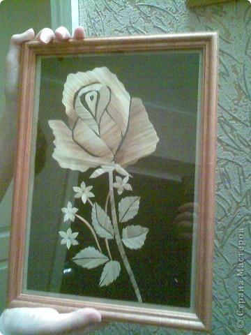 роза из соломки